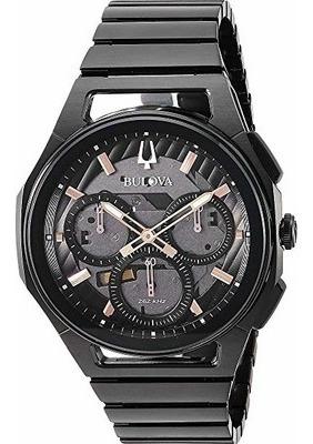 Relógio Bulova Masculino Curv Chronograph Quartz Black Origi