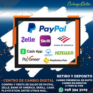 Centro De Cambio, Retiro Y Deposito De Paypal, Skrill, Etc.