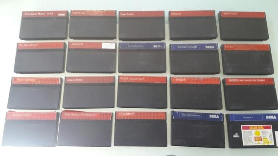 31 Cartuchos Jogo Master System Originais Testados