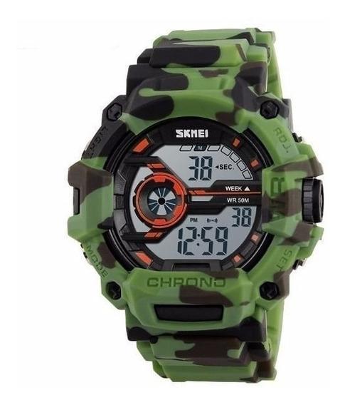 Relógio Masculino Skmei Digital 1233 Verde E Preto Original