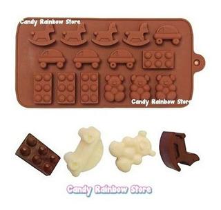 1pz Molde Toys Chocolate Jabon Resina Fondant Arcilla Shower