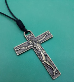 Colar Masculino Feminino Cruz Gospel Cristo Jesus