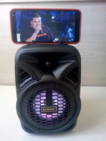 Caixa De Som Com Led Amplificada Cnn 430sp Com Bluetooth Fm