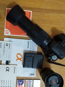 Câmera Dslr Sony A200 + 2 Lentes