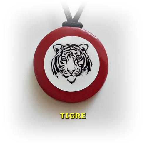 Colgante De Porcelana Fría 3.8 Cm - Tigre