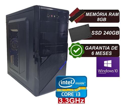 Imagem 1 de 5 de Pc Computador Cpu Intel Core I3 Ssd 240gb / 8gb Memória Ram