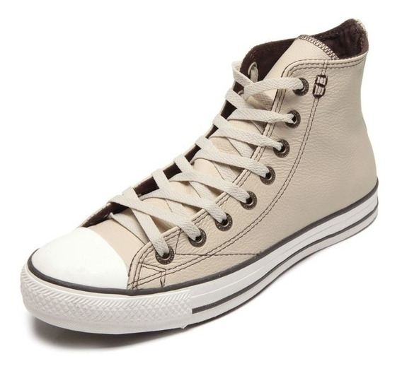 Tênis Converse All Star European Hi Bege Original