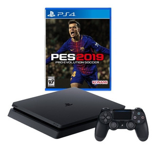 Ps4 Playstation 4 Slim 500gb + Pes 2019 Em Campinas Sp