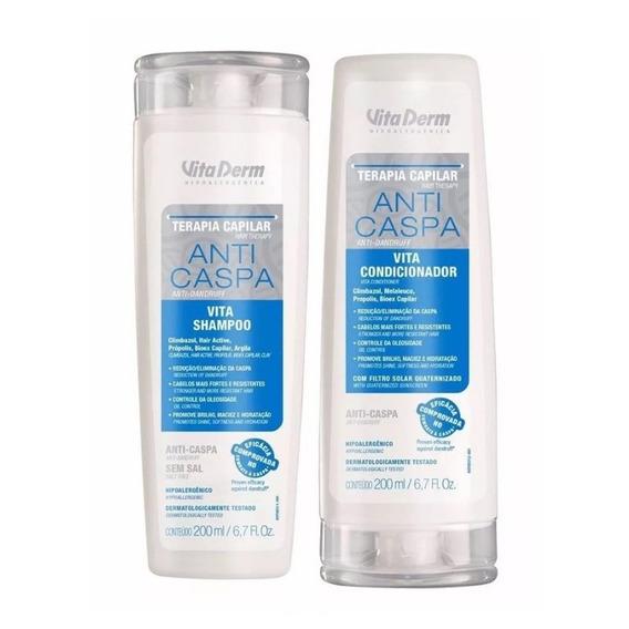 Kit Shampoo E Condicionador Anti Caspa Vita Derm