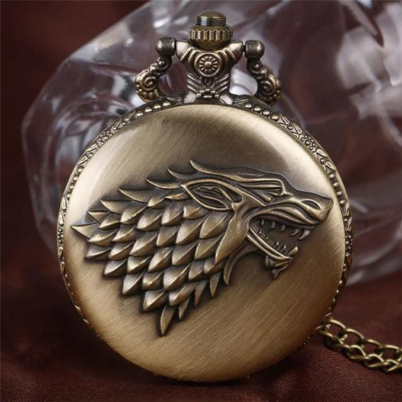 Juego De Tronos Reloj Bolsillo Game Thrones Collar 4.7 Cms