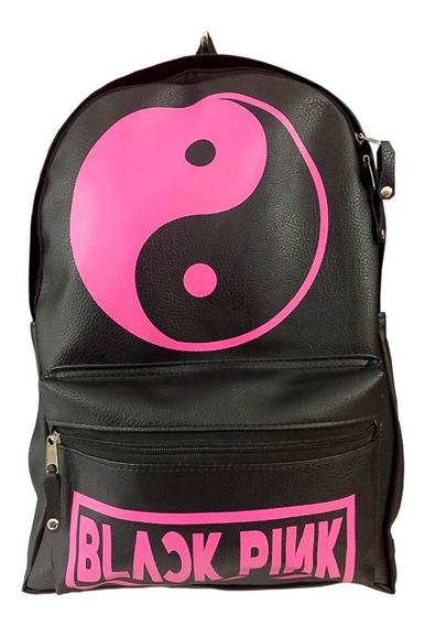 Mochila Black Pink Kpop Cuero Ecologico Excelente!!