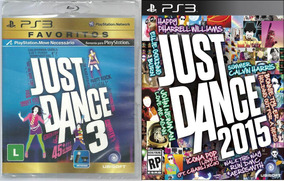 Kit Jogo Ps3 Just Dance 2015 + Just Dance 3 Midia Fisica Nf