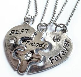 Colar Bff Best Friend Forever 3 Peças - Gargantilha