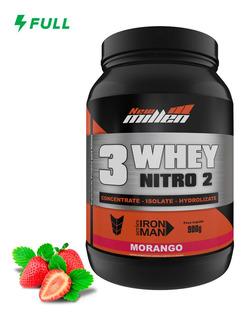 Whey Protein 3w Nitro2 900g Isolado Concentrado New Millen