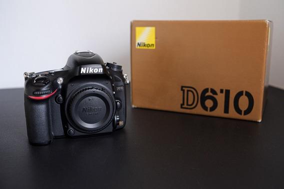 Câmera Nikon D610 Corpo - Obturador Novo!