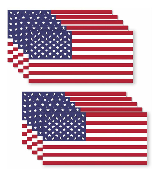10 Pack Usa American Flag Vinyl Decal Army Navy Tactical Mil