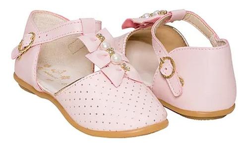 Imagem 1 de 1 de Sapato C/ Laços E Perolas - 22 Ao  27 - Pimpolho 33129c