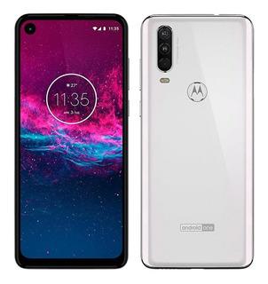 Smartphone Motorola One Action,branco Polar,tela 6.34,128gb