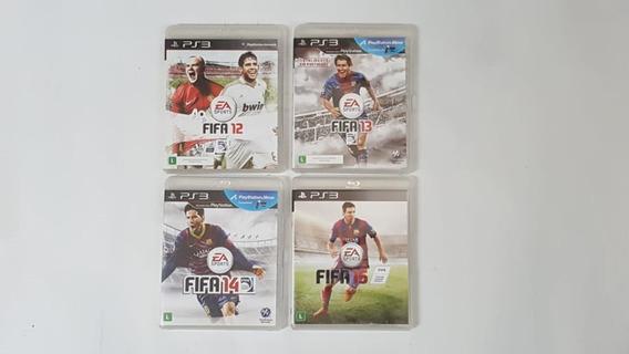 Coleção Fifa 12 A 15 - 4 Jogos - Ps3 - Original