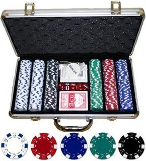 Set De Poker 300 Fichas Maleta Metalica Juego De Azar Nuevo