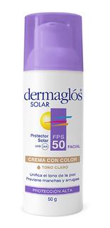 Dermaglos Protector Solar Facial Fps 50 Con Color X 50 Ml