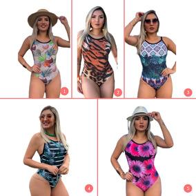 2 Maiôs Bodys Femininos Para Piscina E Praia Ref 3245a