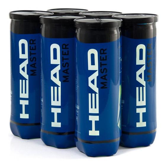 Bola De Tênis Head Master Pack Com 6 Tubos