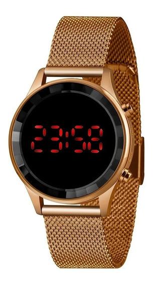 Relógio Lince Led Feminino Ldr4647l Rose + Garantia + Nfe