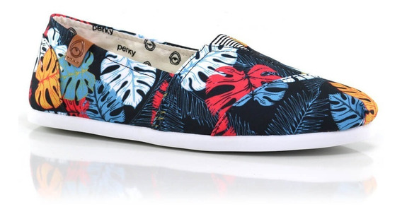 Alpargatas Perky Tropicana Black - Way Tenis