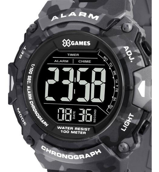 Relógio X-games Xmppd487 Pxgp Masculino Cinza Camuflado