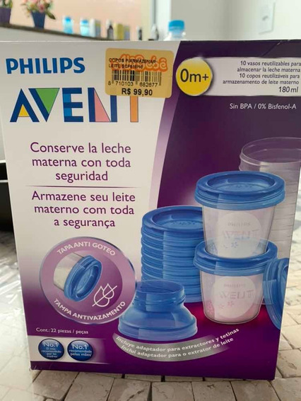 Kit Copos Armazenamento Leite Materno Philips Avent