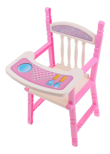 Imagen 1 de 8 de Lovely Reborn Doll Dinner Chair Baby Dolls Highchair Set,