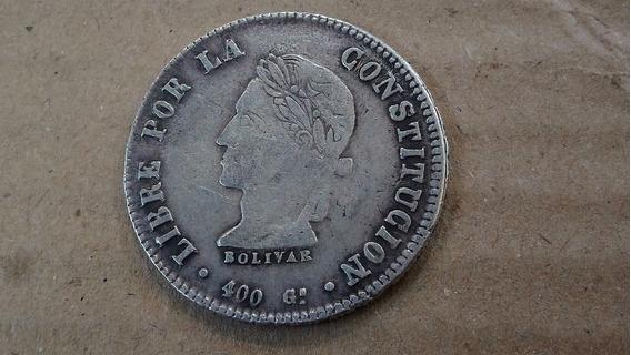 Moneda Bolivia 8 Sueldos, 1861 Plata 0.903 Km# 138 Lote 1350