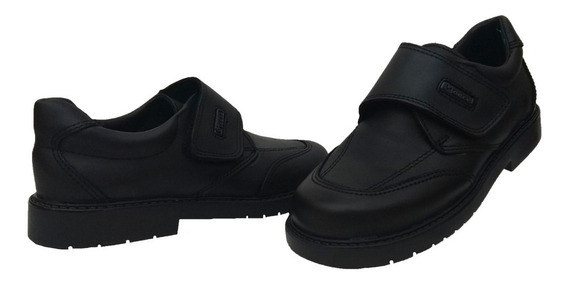 Zapato Colegio Abrojo Cuero Marcel 217 Inyectado Negro