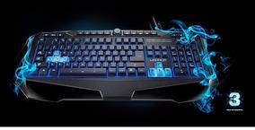 Teclado Led Gamer Multimidia Usb Iluminado Multilaser Tc167