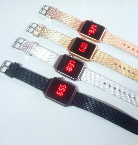 Kit 20 Relógios Femininos Toutch Quadrado + Caixas Atacado