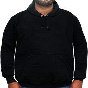 Blusa De Frio Plus Size Moletom Canguru Capuz Casaco Liso