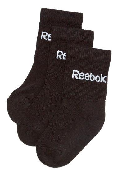 3 Pares De Calcetines Crew Sock Niño Reebok Ac0654