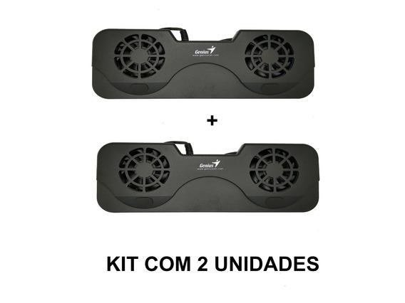 Kit 2 Unid Base Ventilada Notebook 10 A 17 Polegadas Genius