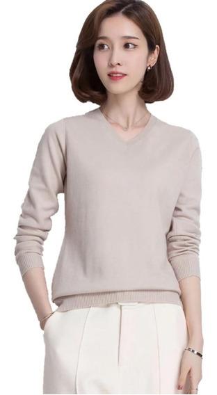 Cardigan Fechado Blusa De Frio Suéter De Lã Tricô Inverno