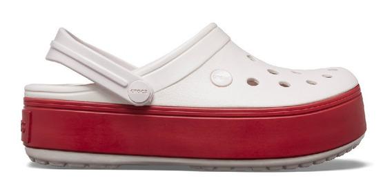 Crocs Plataforma Rosa Base Roja