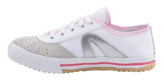 Tênis Rainha Volei Futsal Vl 2500 Branco Rosa Pink