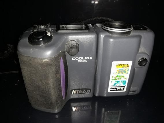Máquina Fotográfica Câmera Digital Coolpix 995 Nikon Ñ Teste