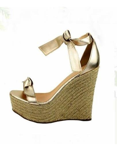 Sapatos Femininos Sandalias Anabela Moda Laco