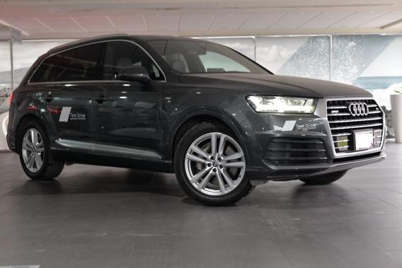 Demo Audi Q7 55 Tfsi S Line Quattro 2019 Gris Day Int. Negro