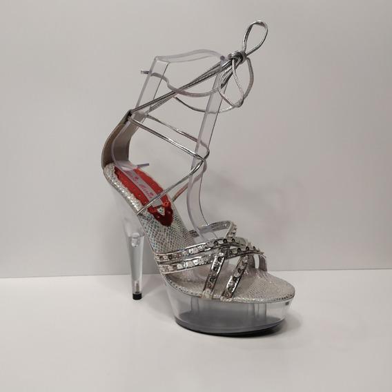 Zapato Dama Fiesta Taco De 15cm Talle 40,41