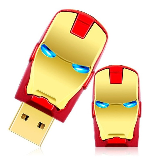 2 Pen Drive Homem De Ferro Vingadores Avengers 64gb Usb 2.0