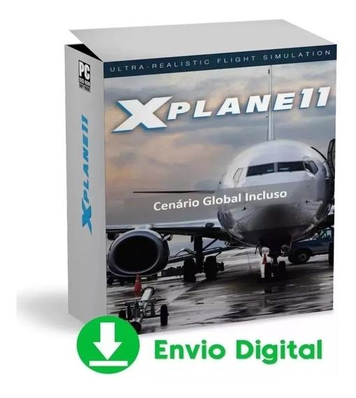 X-plane 11 Pc Digita- Completo Original Steam Cenário Global