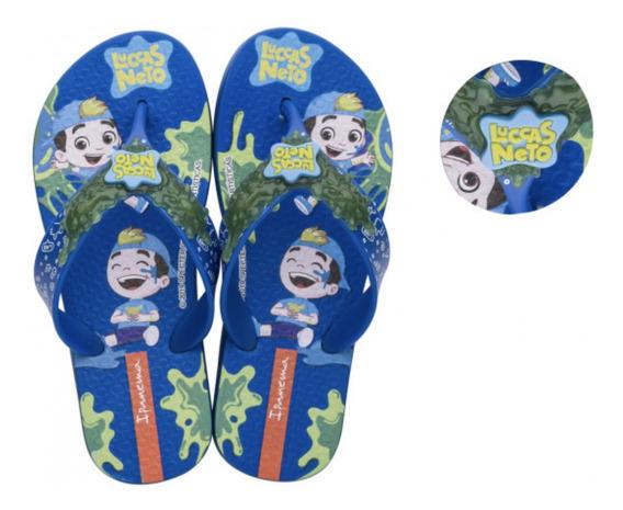 Presente Para Crianças Sandália Luccas Neto Azul Grendene