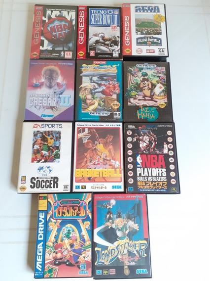 Jogos Originais Mega Drive Lote Frete Gratis 12x Sem Juros
